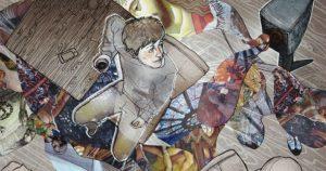 Illustratie uit Volzin door Diana van Houten