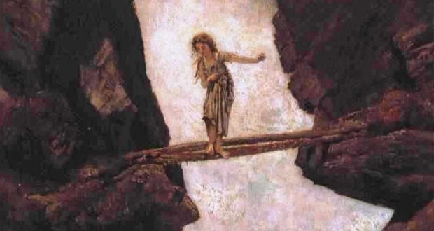 Anton Romako, Am Wasserfall