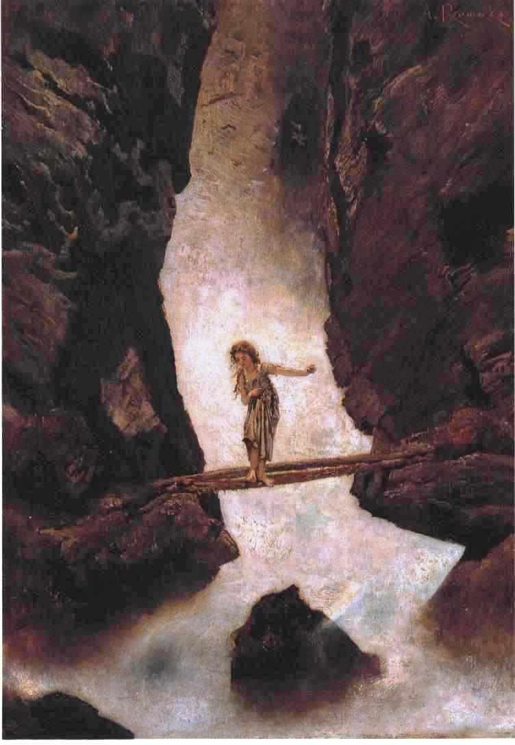 Anton Romako - Am Wasserfall