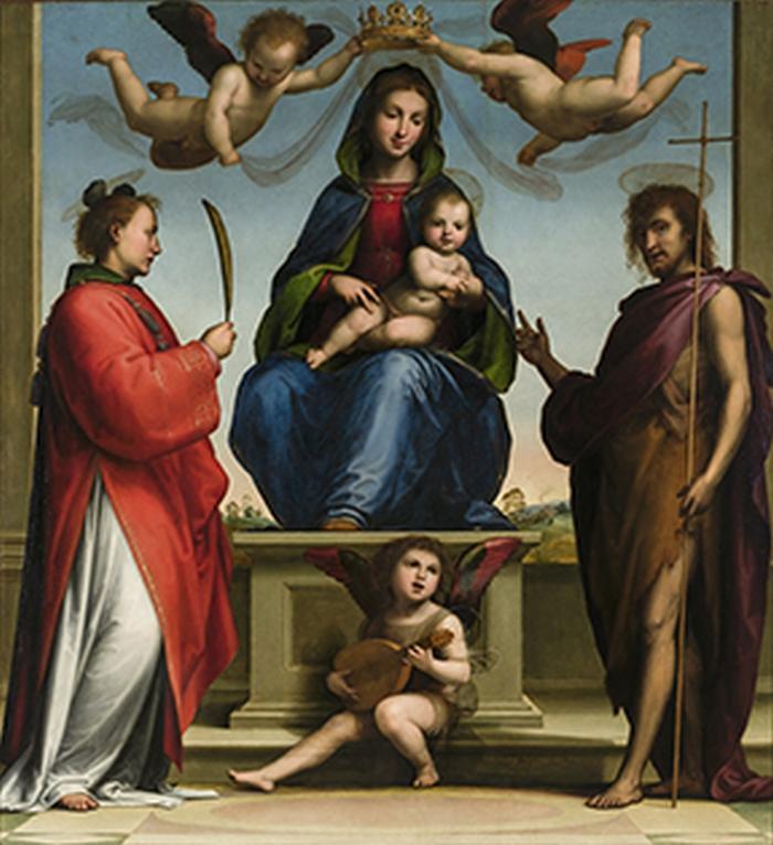 ´Drievuldigheid´van Maria, Stefanus en Johannes de Doper.