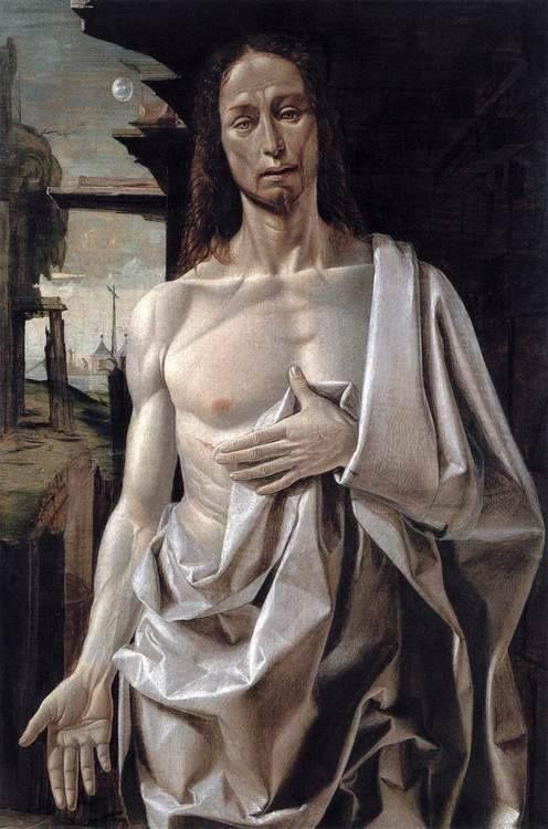 Opgestane Christus door Bramantino (ca. 1465-1530).